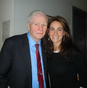 Susan with former New Jersey Governor Brendan Byrne at a Seton Hall University event in December 2012