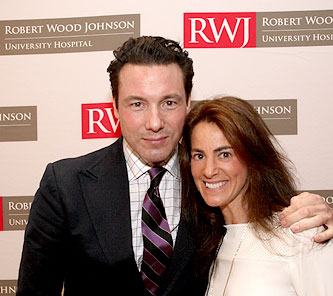 Susan with celebrity chef Rocco DiSpirito prior to interviewing him in front of an audience of 500 at Robert Wood Johnson's 'Healthfest 2015' event in Somerset, NJ on June 29th, 2015 (image courtesy of Kevin Birch)