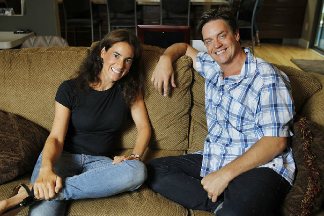 Susan hanging out with comedian Jim Breuer (September 2012)