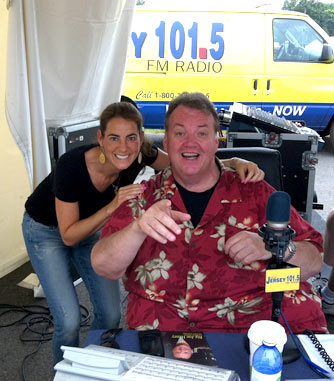 Susan with legendary New Jersey radio broadcaster Big Joe Henryin July 2013