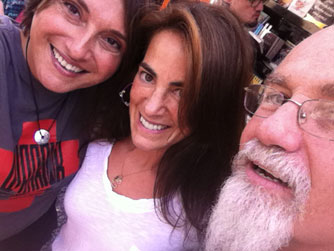 Susan with musician and author Rayya Elias and poet John Smith at an event in Frenchtown, NJ (September 2013)