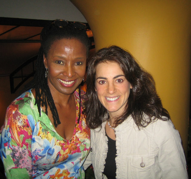 Susan with TV host, restaurateur, and author B. Smith at her restaurant in New York City in 2008