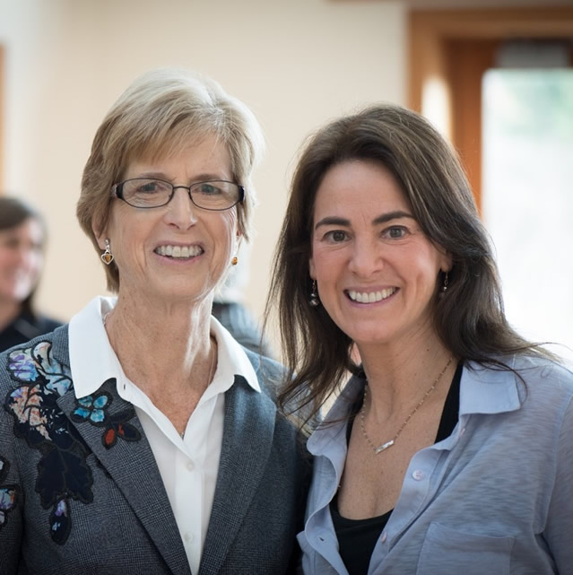 Susan with former New Jersey Governor and EPA Administrator Christie Todd Whitman at an event for The Willow School (Gladstone, NJ) in 2017