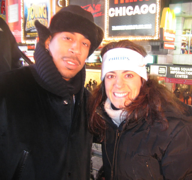 Susan with rapper/actor Ludacris on New year's Eve in Times Square