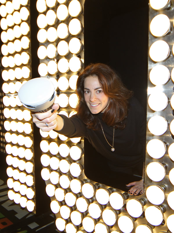 Promoting LEDs in the Times Square Ball for a 2010 publicity shot by the New York Post