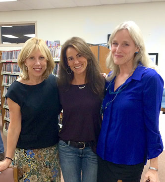 Susan with New York Times bestselling authors Christina Baker Kline (Orphan Train) and Kate Manning (My Notorious Life) at a book-signing event in Brielle, NJ in October 2014