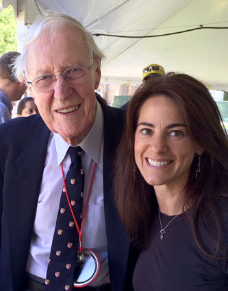 Susan with Frank H. T. Rhodes, former President of Cornell University (1977-1995) at reunion festivities in June 2014