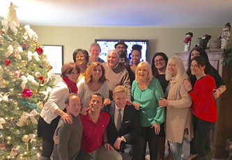 At Produce Pete's annual holiday party in December 2015 with the gang from NBC Weekend Today in New York, including anchors Pat Battle and Gus Rosendale and meteorologist Rafael Miranda!