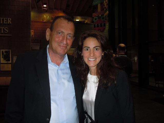 Susan with Ron Huldai, Mayor of Tel Aviv, Israel, while covering an event at Metrowest JCC in West Orange, NJ on June 26th, 2011