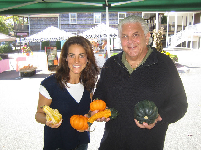 "With ""Produce Pete"" Napolitano at a harvest festival in Chester New Jersey"